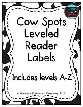 Cow Spots Leveled Reader Labels
