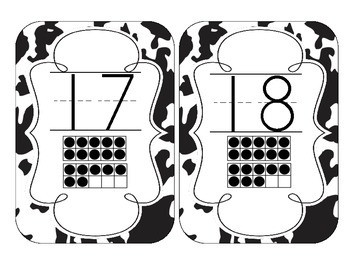 Cow Spots Number Cards 1-20