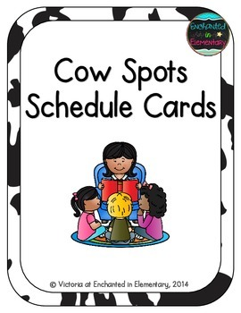 Cow Spots Schedule Cards