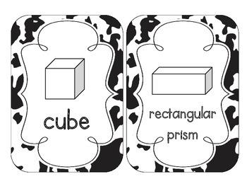 Cow Spots Shape Cards