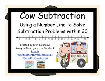 Cow Subtraction with Number Line