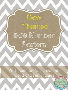 Cow Themed 0-20 Numbers Posters