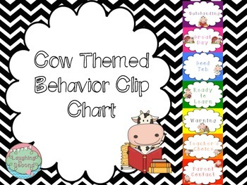 Cow Themed Behavior Chart
