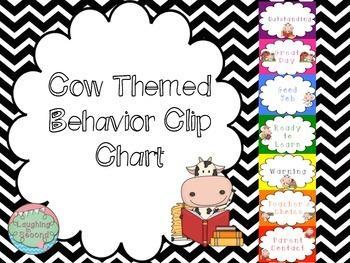 Cow Themed Behavior Chart