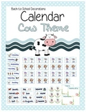 Cow Themed Calendar Set