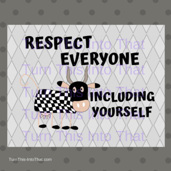 Cow Themed Classroom Rules Posters - Gray Background