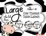 Cow Themed Table Signs (1-10)