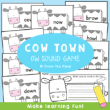 Cow Town - Literacy Game / Activity / Center for ow Sound