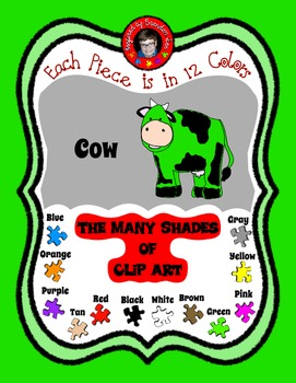 Cow ~ Udderly Cute Clip Art ~ Commercial Use & Free ~ Use for Farm Theme
