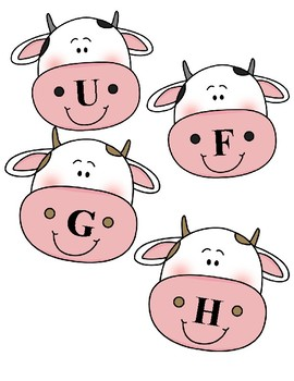 Cow Uppercase/Lowercase Letter Match