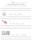 Cow Writing Page
