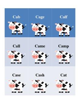 Cow /k/ Words