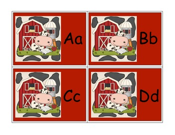 Cow on the Farm Alphabet Word Wall