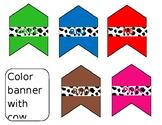 Cow print colors