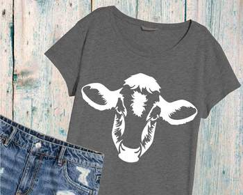 Cow show heifer SVG cowboy 4th July Farm Milk white 894S