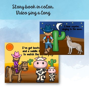 "Song: ""I'm a Cowboy"" Little Reader, Literacy Activities, Video, Mp3 Track {CCSS}"