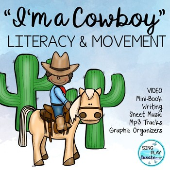 """Cowboy Literacy Little Readers, and Song """"I'm a Cowboy"""" Video {CCSS}"""