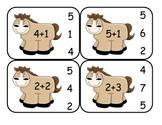 Cowboy Addition Clip Card Math Center