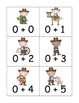 Cowboy Addition and Subtraction to Five Game and Board
