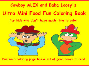 Cowboy Alex's Mini Coloring Book with Book Ideas For Storytime & Reading Circles