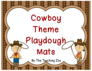 Cowboy Alphabet Play Dough Mats- A to Z