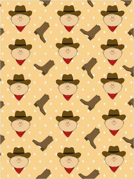 Cowboy Background Set