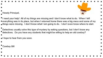 Cowboy Bill's Mystery- Engaging Learning Tasks