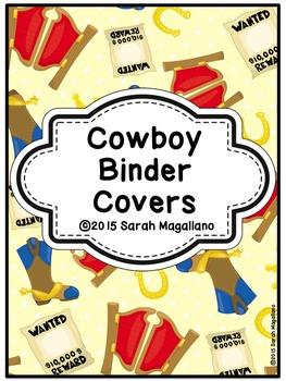 Cowboy Binder Covers