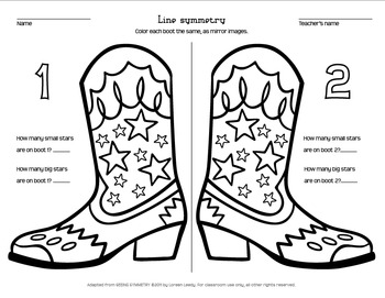 photo relating to Cowboy Boot Printable titled Cowboy Boot Line Symmetry coloring web page