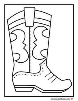 graphic about Cowboy Boot Printable known as Cowboy Boot Printable