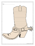 Cowboy Boot Writing Paper