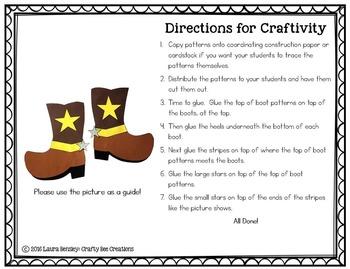 Cowboy Boots Craft