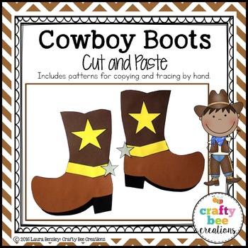 Cowboy Boots Cut and Paste