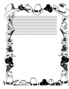 Cowboy Border Lined Paper