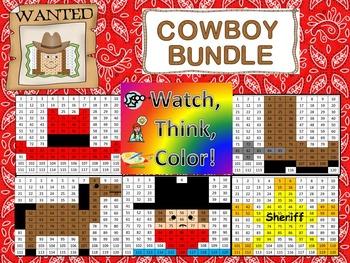 Cowboy Bundle Watch, Think, Color Games - EXPANDING BUNDLE