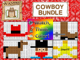 Cowboy Bundle Watch, Think, Color Games - EXPANDING BUNDLE