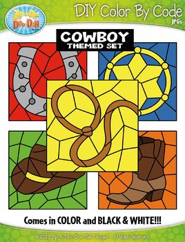 Cowboy By Code Clipart {Zip-A-Dee-Doo-Dah Designs}
