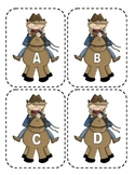 Cowboy Capital Alphabet Flash Cards