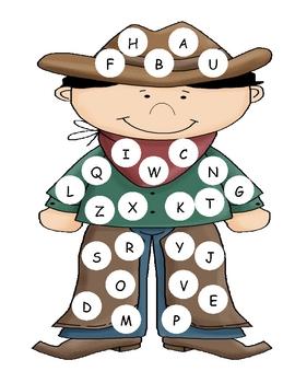 Cowboy Capital Alphabet Mat