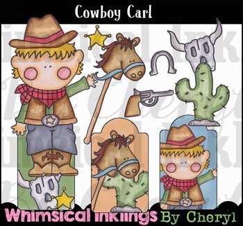 Cowboy Carl-Western Clipart Collection
