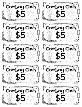 Cowboy Cash - Rewards/Classroom Money/Incentives
