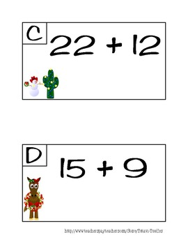 Cowboy Christmas Add the Room Task Cards
