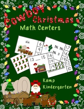 Cowboy Christmas Math Centers (Numerals to 20)