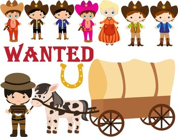 Cowboy Clip Art , western, wild west pony, Personal, school Use -052-