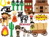 Cowboy Clip Art , western, wild west pony, Personal, schoo