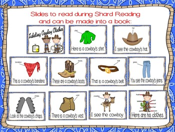 Cowboy Clothes Labeling ~ Reader and activities
