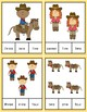 Cowboy Clothespin Task Card Number Activity