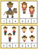 Clothespin Task Card Number Activity - Cowboy Theme
