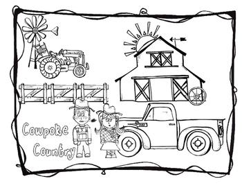 Cowboy Coloring & Word Search