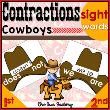 Contractions with the Cowboys!  1st-3rd Grade